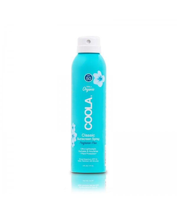 COOLA Suncare Солнцезащитный спрей для лица и тела без запаха SPF50