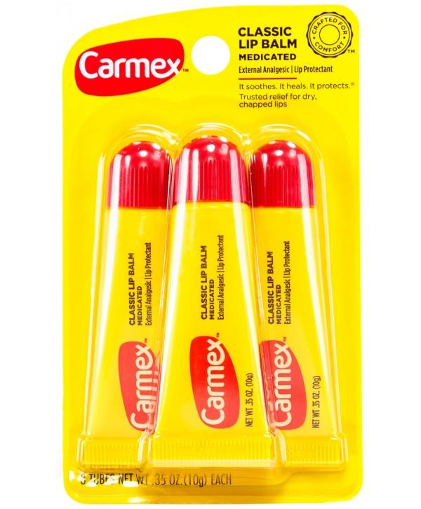 CARMEX Classic lip Balm Medicated Набор из 3 бальзамов в тюбике
