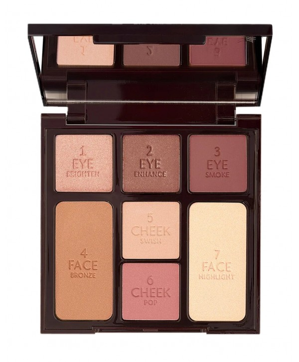 CHARLOTTE TILBURY Instant Look in a Palette Gorgeous Glowing Beauty Палетка для макияжа лица