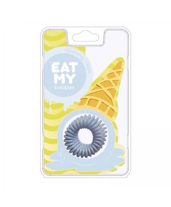 Резинки для волос EAT MY bobbles «Blueberry cream - Сливочная голубика», 3 шт.