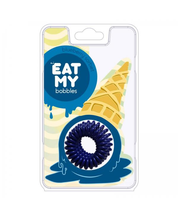 Резинки для волос EAT MY bobbles «Blueberry sorbet - Голубичный сорбет», 3 шт.