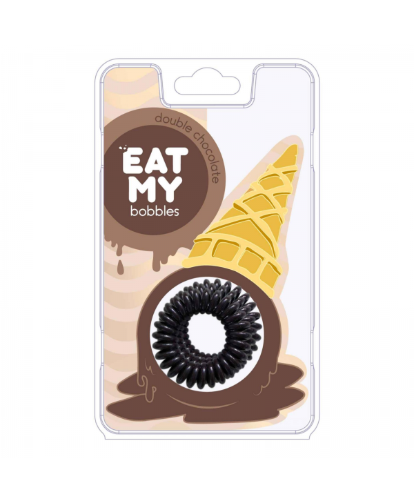 Резинки для волос EAT MY bobbles «Double chocolate - Двойной шоколад», 3 шт.