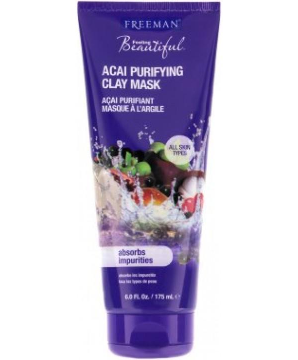 """FREEMAN Acai Purifying Clay Mask - Очищающая глиняная маска для лица """"Акаи"""""""