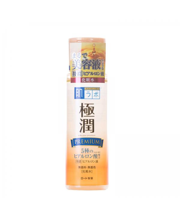 HADALABO Gokujyun Premium Супер увлажняющий лосьон для лица на основе 5 видов гиалуроновой кислоты 170 мл