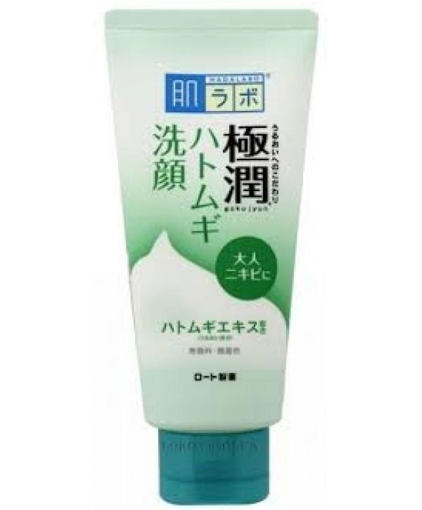 HadaLabo Gokujyun Hatomugi Пенка для очищения лица с проблемной и жирной кожей 100 г