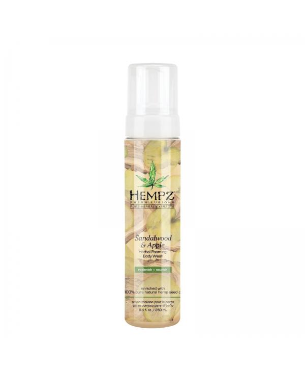 HEMPZ Sandalwood & Apple Herbal foaming Body Wash 250 ml Гель-мусс для душа Сандал и Яблоко
