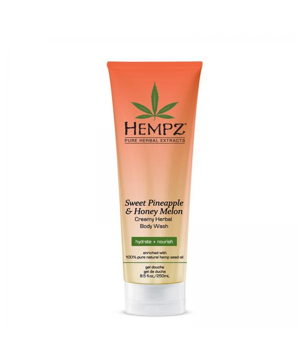 HEMPZ Sweet Pineappale & Honey Melon Herbal Body Wash 250ml Гель для душа Ананас и Медовая Дыня