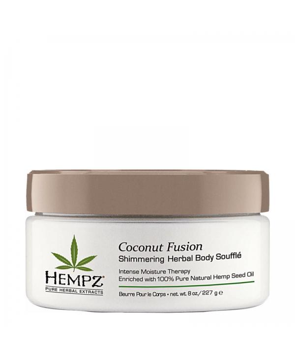 HEMPZ Coconut Fusion Shimmering Herbal Body Souffle 227 g Суфле для тела с мерцающим эффектом Бодрящ