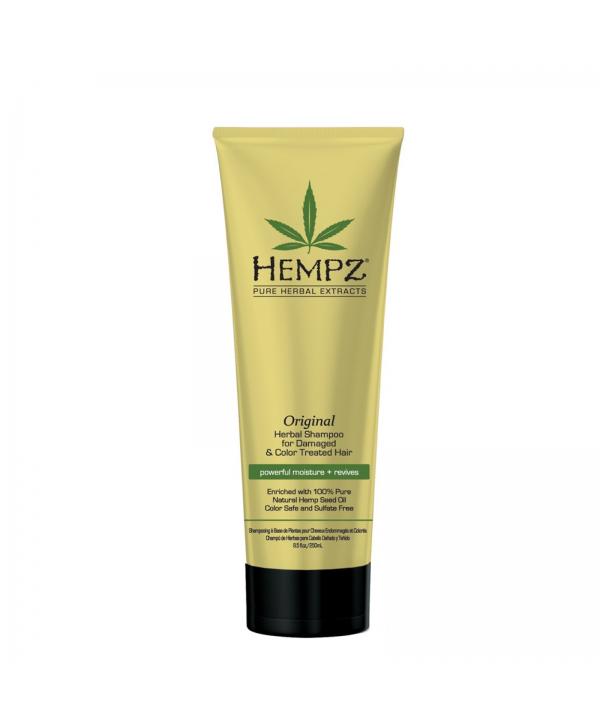 HEMPZ Orirginal Shampoo 265 ml Растительный шампунь Оригинальный сильной степени увлажнения для повр