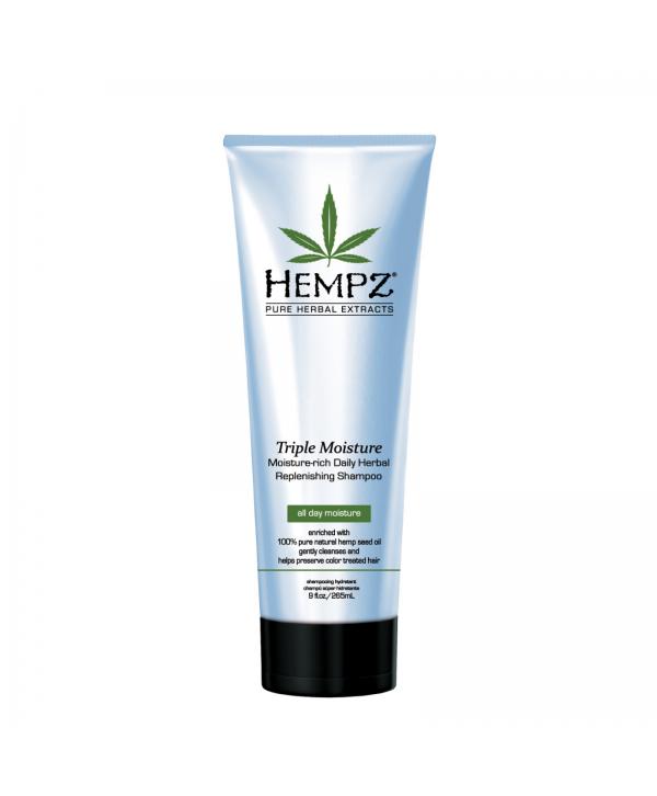 HEMPZ Triple Moisture Shampoo 265 ml Растительный шампунь Тройное Увлажнение сильной степени увлажне