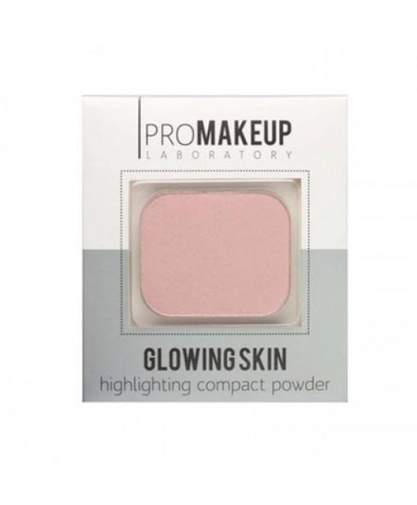 PROMAKEUP Glowing Skin Компактный хайлайтер 102 жемчужно-розовый