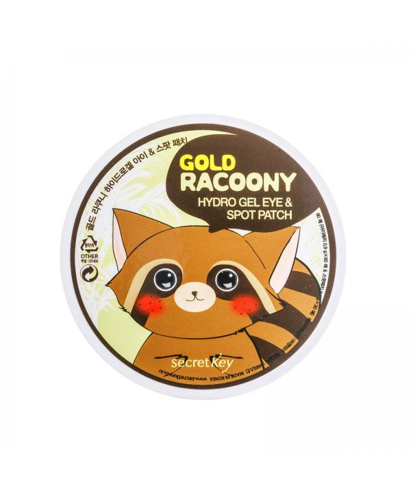 SECRET KEY Gold Racoony Hydrogel Eye & Spot Patch Патчи для глаз гидрогелевые 90 шт