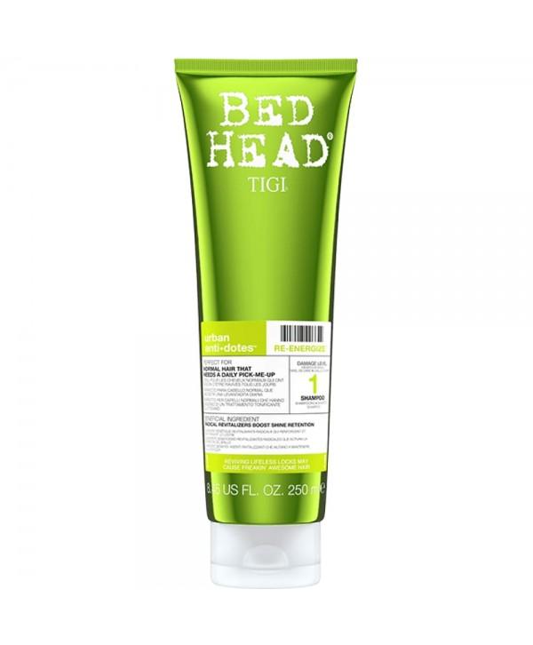 TIGI Bed Head Шампунь для поврежденных волос уровень 1, 250 мл Bed Head Urban Anti+dotes Re-Energize