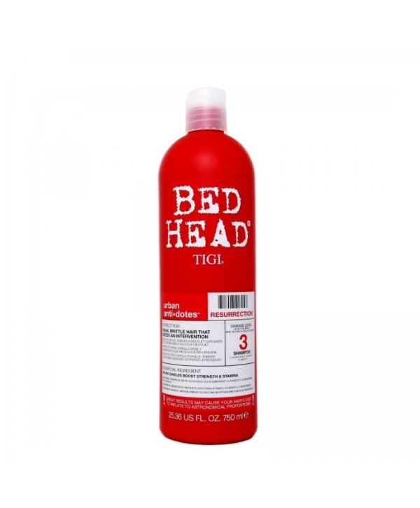 TIGI Bed Head Шампунь для поврежденных волос уровень 3, 750 Bed Head Urban Anti+dotes Resurrection
