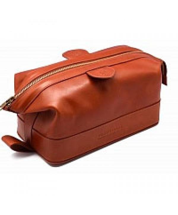 Truefitt&Hill  90008  Gentleman`s Wash Bag - Brown  Косметичка на молнии / Коричневая