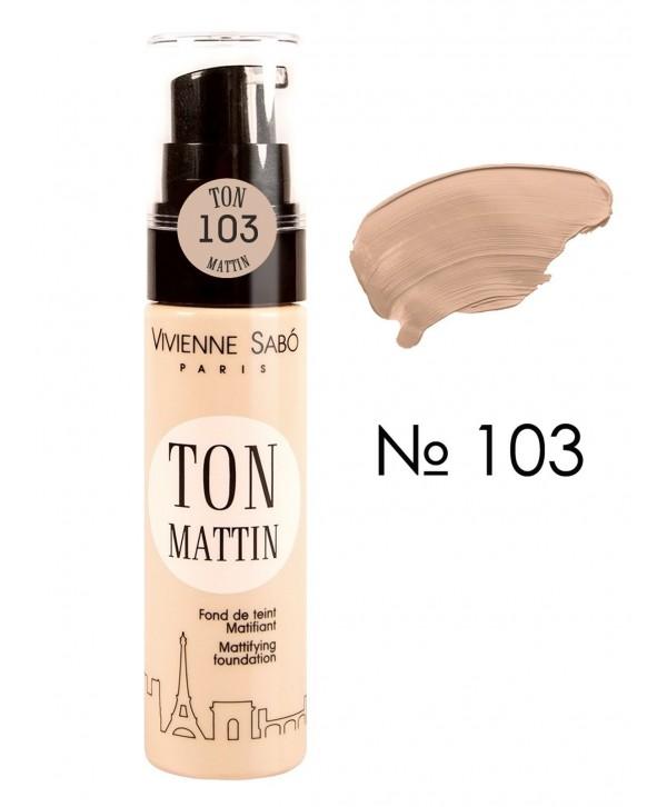VIVIENNE SABO Mattifying foundation Ton Mattin Матирующий тональный крем тон 103