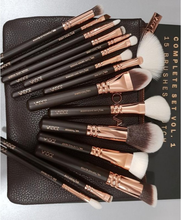 Zoeva Rose Golden Complete Set Vol.1 15 brush + cloutch