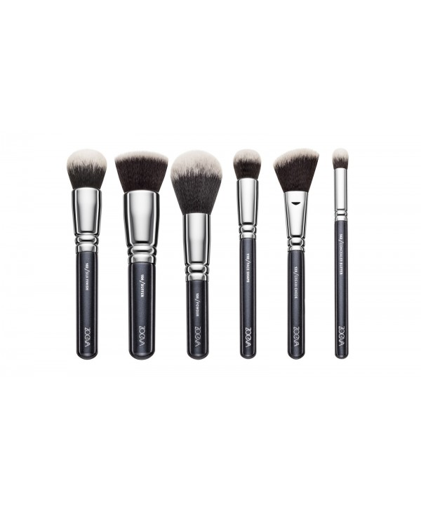 Zoeva Vegan Face Set 6 Brushes + Clutch