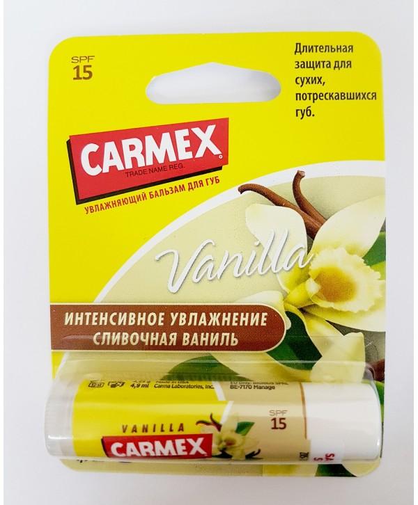 CARMEX Бальзам для губ, ваниль SPF 15 (стик)
