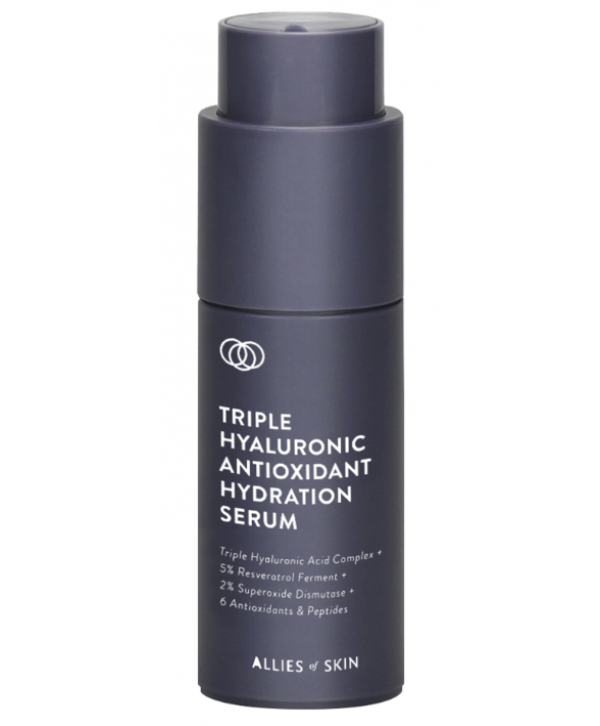 ALLIES OF SKIN Triple Hyaluronic Antioxidant Hydration Serum Сыворотка для лица