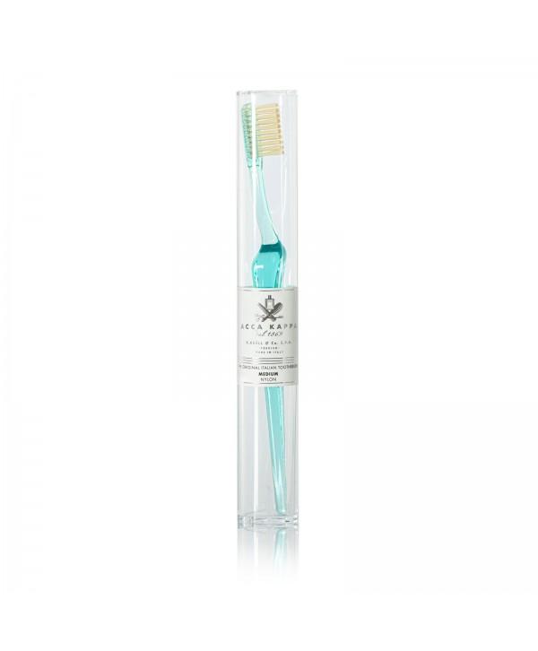 ACCA KAPPA Зубная щетка (пластик) с щетиной нейлон, средняя жесткость Aquamarine