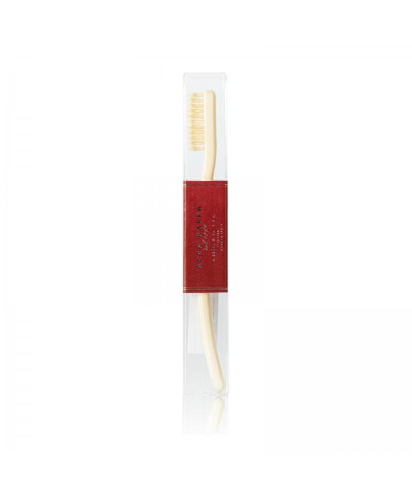 ACCA KAPPA Зубная щетка с натуральной щетиной средней жесткости (цвет Ivory White)