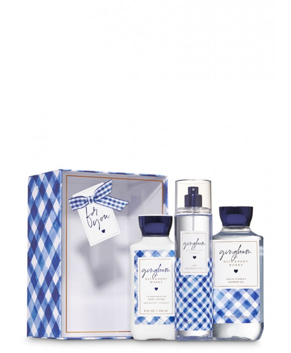 BATH & BODY WORKS GINGHAM Gift Box Set