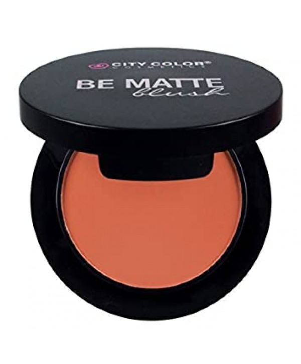 CITY COLOR COSMETICS Be Matte Blush | Blendable Mineral Makeup Powder (Blackberry)