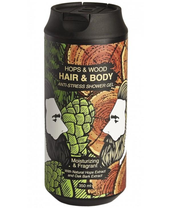 CHEMICAL BARBERS Anti-Stress Hpos&Wood Hair&Body Gel Гель очищающий для волос и тела 350 мл