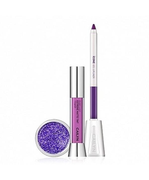 CAILYN Трио Набор для яркого макияжа губ /фиолетовая сирень