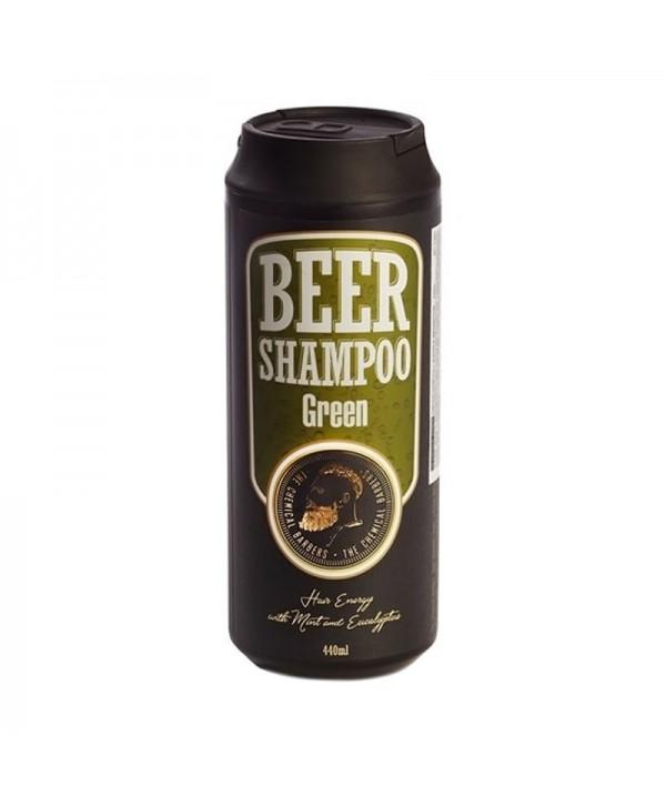 CHEMICAL BARBERS BEER SHAMPOO GREEN Пивной шампунь с мятой и эвкалиптом 440 мл
