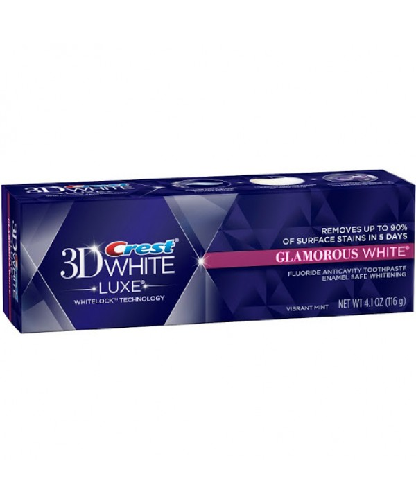 CREST 3D White Luxe Glamorous White Whitening Toothpaste Зубная паста отбеливающая 120 мл