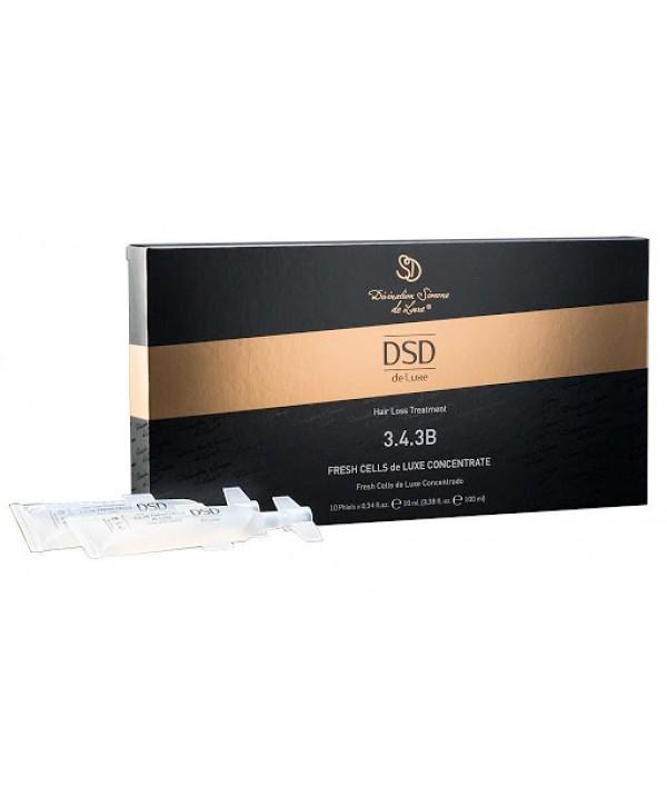 DSD DE LUXE 3.4.3B Fresh Cells Concentrate 10*10 ml Концентрат в ампулах для стимуляции роста волос