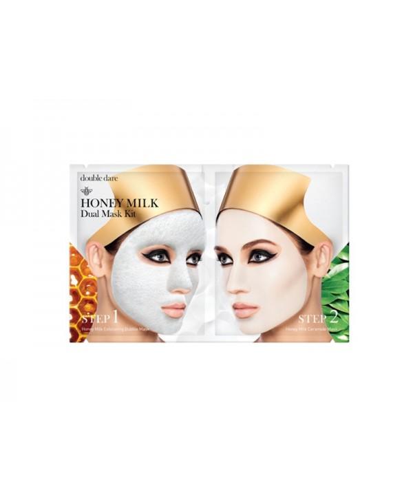 Double Dare Honey Milk Drop двухкомпонентный комплекс масок «МЁД И МОЛОКО» для очищения и питания кожи