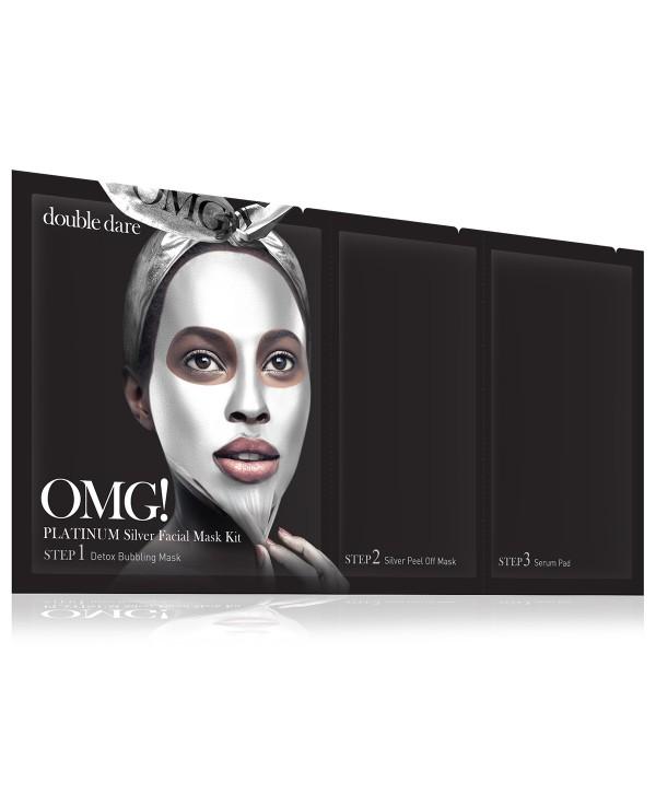 DOUBLE DARE OMG Platinum SILVER Facial Mask маска трехкомпонентная серебренная
