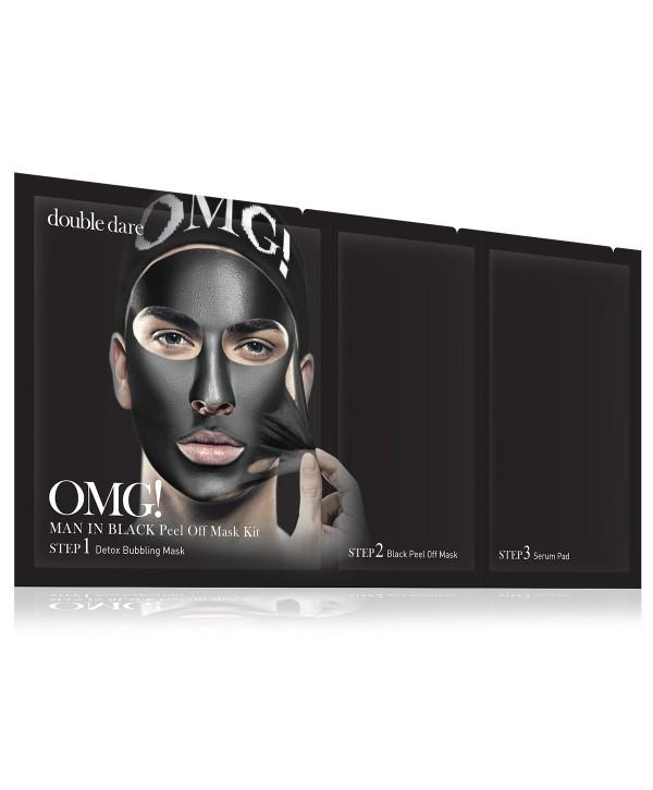 DOUBLE DARE OMG Man In Black Peel Off Mask Kit маска мужская трехкомпонентная для лица