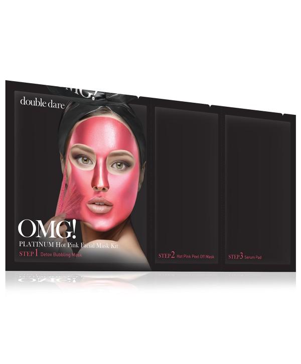 DOUBLE DARE OMG PINK Facial Mask Kit 5pcs маска трехкомпонентная розовая