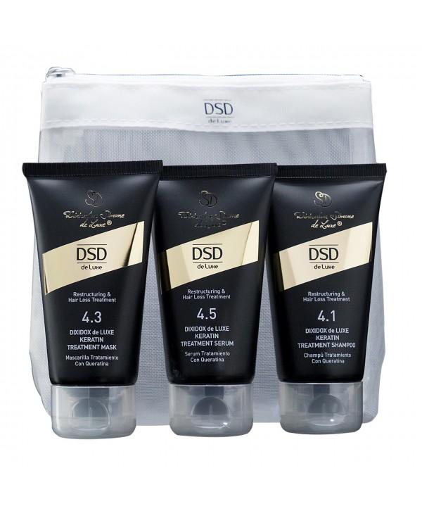 DSD De Luxe 4.3 4.1 4.5 Travel Kit 50 мл Восстанавливающий шампушь маска сыворотка с кератином