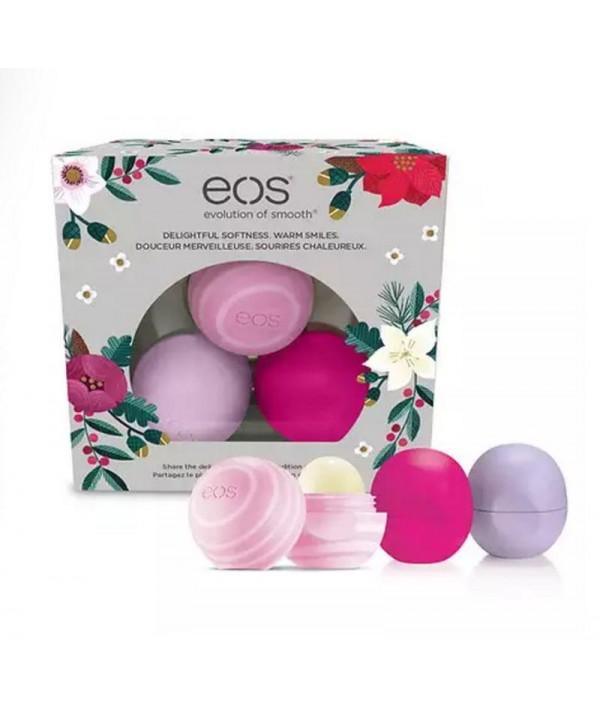EOS 3 pack unites Lip balm Wildberry Honey Aplple Passion Fruit Бальзам для губ 3 шт