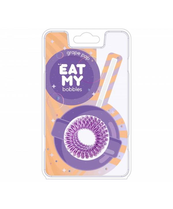 Резинки для волос EAT MY bobbles «Виноградный леденец», 3 шт.