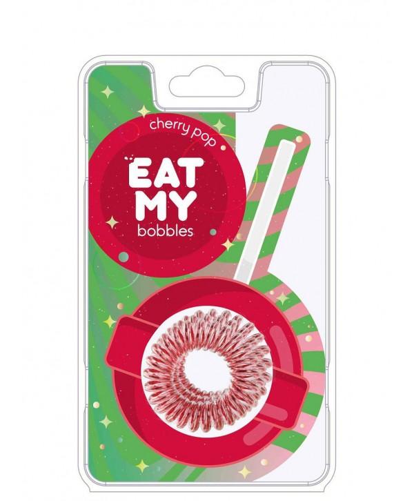 Резинки для волос EAT MY bobbles «Вишневый леденец», 3 шт.