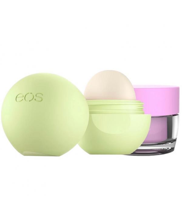 Eos Tropical Escape Guava lip scrub $pina colada lip balm