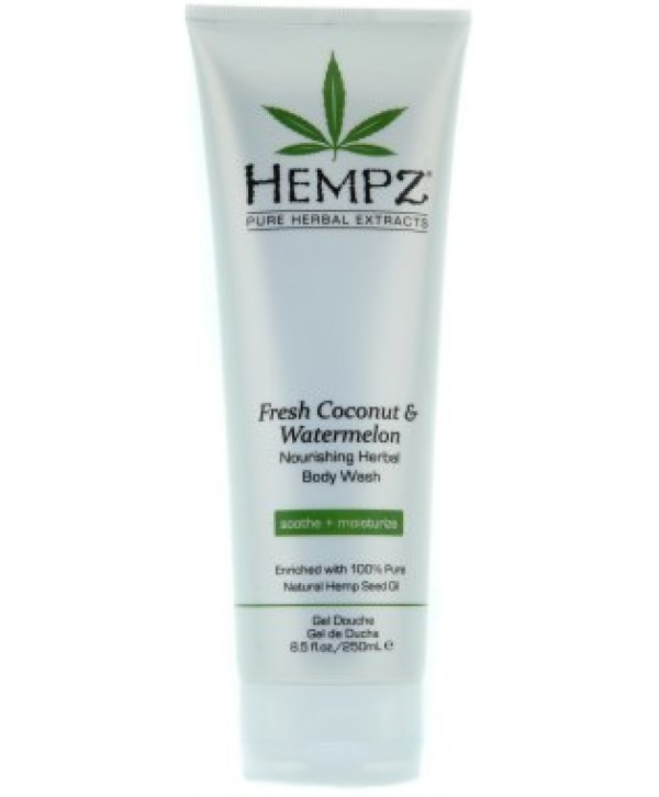 HEMPZ Coconut Fusion Energizing Herbal Body Wash 250 ml Гель для душа Бодрящий Кокос