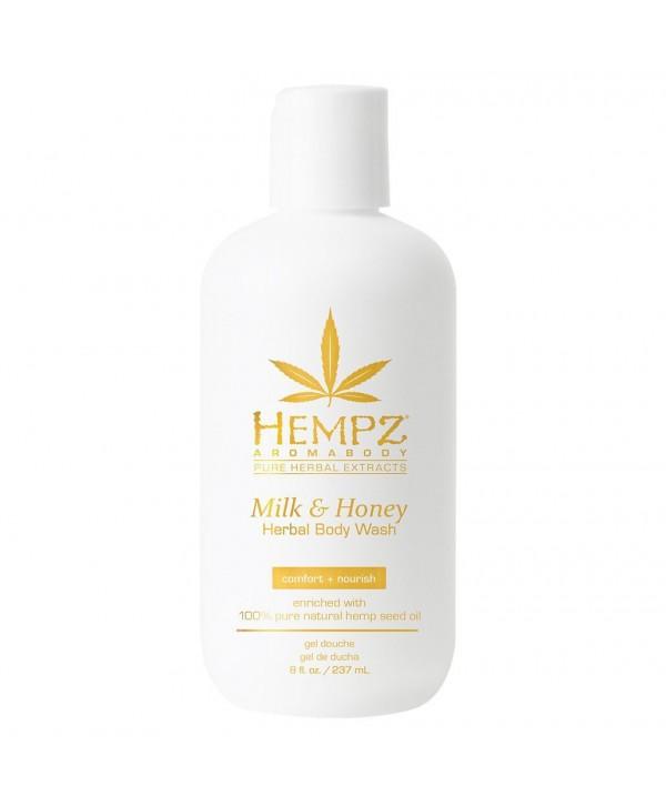 HEMPZ Milk & Honey Herbal Body Wash 237 ml Гель для душа Молоко и Мед