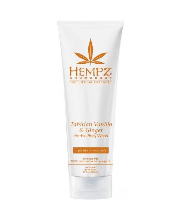 HEMPZ Tahitian Vanilla & Ginger Herbal Body Wash 237 ml Гель для душа Имбирь и Ваниль Таити