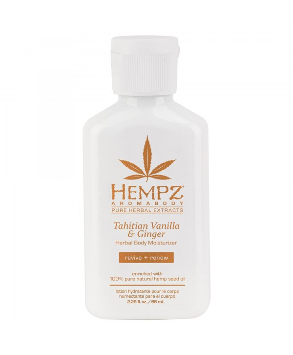 HEMPZ Tahitian Vanilla & Ginger Herbal Body Moisturizer 500 ml Молочко для тела увлажняющее Имбирь и