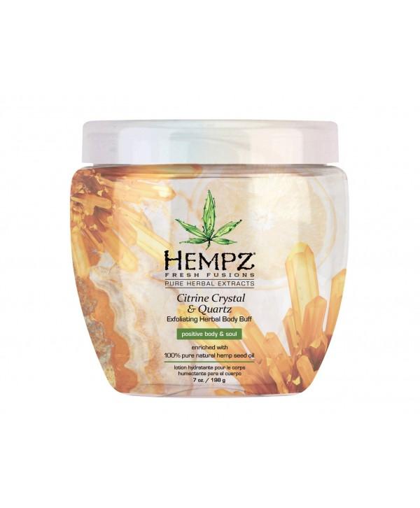 HEMPZ Citrine Crystal & Quartz Herbal Body Buff 198 g Скраб для тела интенсивный с мерцающим эффекто
