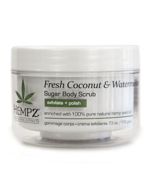 HEMPZ Fresh Coconut & Watermelon Sugar Body Scrub 176 g Сахарный скраб для тела Кокос и Арбуз