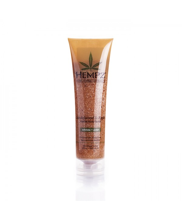 HEMPZ Sandalwood & Apple Herbal Body Scrub 265 ml Скраб для тела Сандал и Яблоко