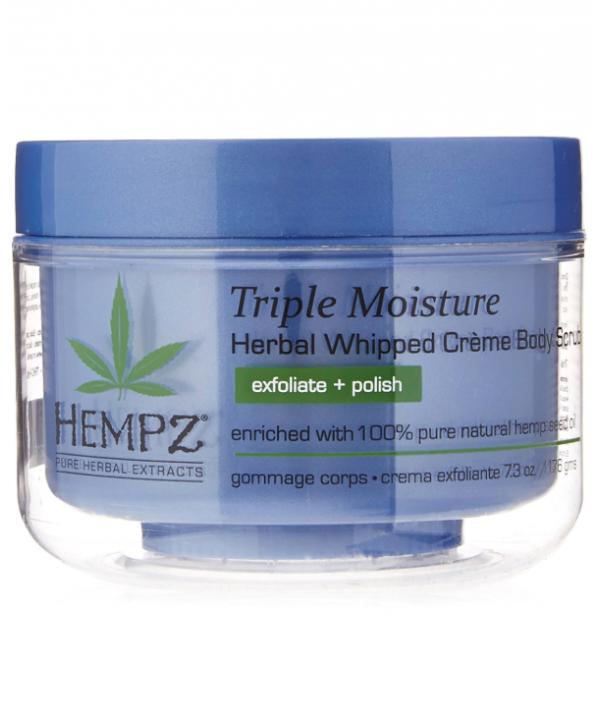 HEMPZ Triple Moisture Herbal Whipped Creme Body Scrub 176 g Скраб для тела Тройное Увлажнение